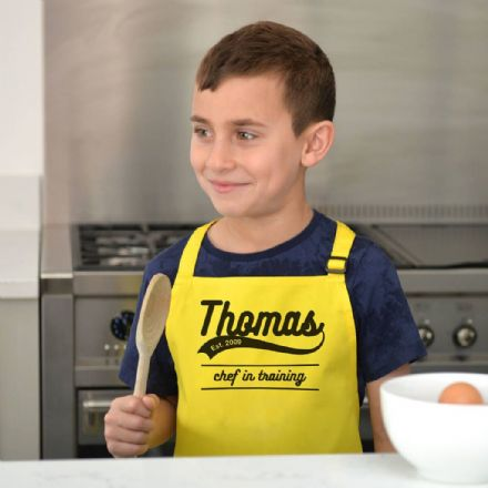 Personalised Child's Retro Coloured Apron